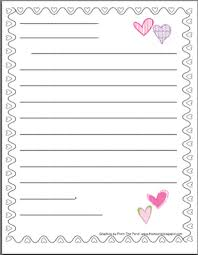 Valentines Day Letter Template Valentines Friendly Letter Stationery Winter Themes Writing