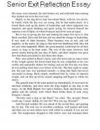 Senior Exit Reflection Essay English