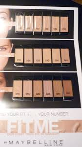 Maybelline Fit Me Foundation Shades Chart Maybelline Fit Me Shade Chart Maybelline Fit Me Foundation