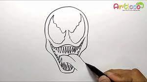 how to draw venom step by step you