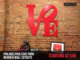 on philadelphia love wall art with love park philadelphia wood love park wall cutout wall art