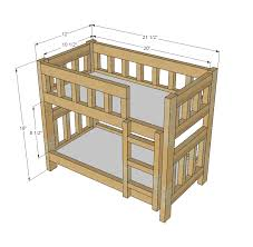 Ana White   Camp Style Bunk Beds for American Girl or 18 Dolls - DIY  Projects