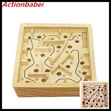 Wooden Maze Games Actionbabei New Mini Wooden Labyrinth Board Game Ball In Maze 59