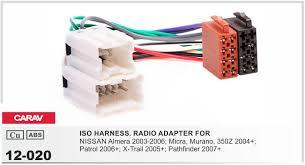 2019 carav12 120 car iso radio plug for nissan stereo wiring harness 12 020