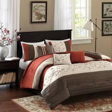rust colored comforter sets. contemporary comforter brierwood 7 piece comforter set inside rust colored sets f