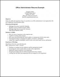 High School Student Resume With No Work Experience Sample Resume