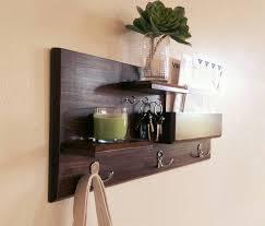 Distressed Wood Coat Rack Wonderful Wood Shelf With Hooks Wall Shelves faamy 69