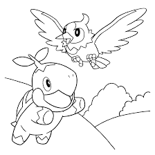 Pokemon Coloring Pages Turtwig
