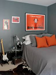 contemporary bedroom men. Fabulous Contemporary Bedroom Grey Bedding Features Guy\u0027s And Teens Boys Bedroom, Orange Bedroom. Men