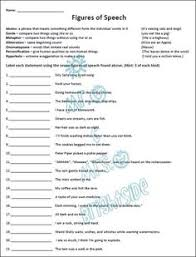 similes and metaphors worksheets and workbook simile figurative  figurative language 21 questions students must identify each statement as the following simile