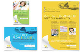 Ad Templates Consumer Credit Counseling Flyer Ad Template Design