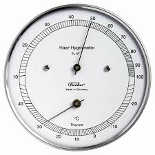 hair hygrometer. measurement outside as well in areas with high humidity, real-hair hygrometers should be prefered. the specially treated human hair, that is used for hair hygrometer e
