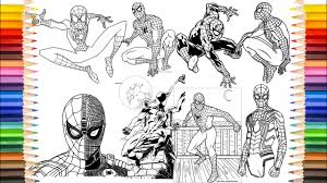Spiderman motorcycle coloring pages, superheroes motorbike, bike coloring video for kids. Spider Man Coloring Book Spider Man 50 Plus Videos Coloring Pages Youtube