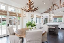 country dining room lighting antler chandelier light for round table with white chairs design latest