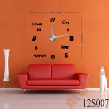 Small Picture 3D Modern Designs Frameless Large Wall Clock DIY Home Decor Style