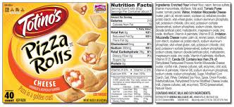 it is my belief that this should not be consumed by any health conscious person the cheese pizza rolls are actually less scary than the ones with