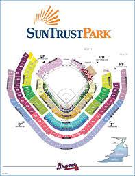 Suntrust Park Map Seating Chart Gates And Entrances