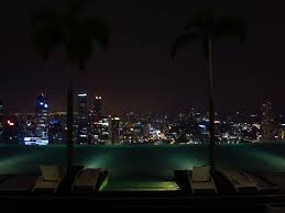 Contemporary Infinity Pool Singapore Night Marina Bay Sands View At On Design