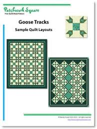 Goose Tracks - Free Quilt Block Pattern - Patchwork Square & The sample quilts illustrated show you layouts using the additional sashing  between the blocks for greater emphasis. Adamdwight.com