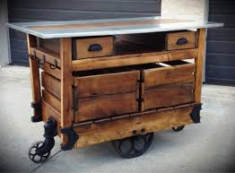 Diy Portable Kitchen Island Reclaimed Wood Portable Kitchen Island Cart Designs Ideas