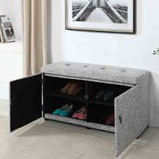 Storage Benches For Living Room Red Barrel Studio 12 Pair Fabric Shoe Storage Bench Reviews