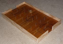 Vintage Wooden Board Games The Shelton Family Homemade Soccer Board Game 31
