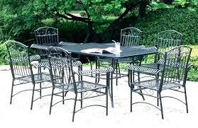 5 piece wrought iron patio set wrought iron patio dining set idea iron patio set and