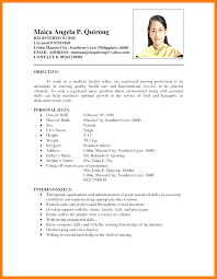 11 Simple Filipino Resume Format New Looks Wellness