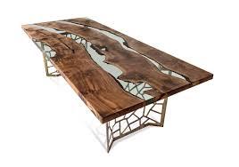 Walnussbaum Kunstharz Modern Tisch Wn001 Amazonde Küche Haushalt