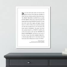 Man In The Arena Framed Print Daily Motivational Quotes