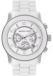 michael kors quartz silver dial men s watch mk5535 watches men s runway chrono white polyurethane white dial white watches for menmens silver watchesmichael kors