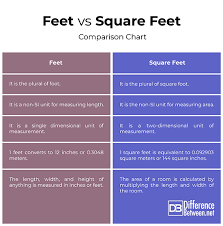 Si Meter Chart Difference Between Feet And Square Feet Difference Between