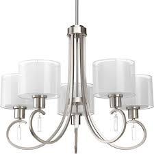 progress lighting alexa 4 light brushed nickel chandelier. progress lighting invite 5-light chandelier, brushed nickel traditional- chandeliers alexa 4 light chandelier