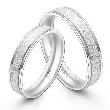matching silver wedding bands. his \u0026 hers matching couple sterling silver rings set - dull polish wedding bands t