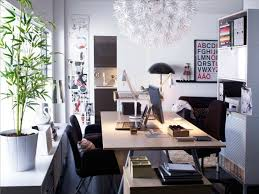 cool home office ideas mixed. Cool Workspaces Design With Artistic Creativity - Image 01 : Scandinavian White Red Elegant Home Office Ideas Mixed O