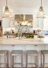 Neutral Kitchen Ideas With Silver Iron Chairs and White Table Bar