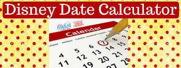 disney dining date calculator