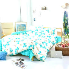 blue bedding grass printed comforter white plain cozy cotton sets or bed sheets bedroom set