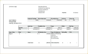 Pay Stub Template Microsoft Metabots Co