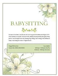 Sample Babysitting Flyer Babysitting Flyers And Ideas 16 Free Templates