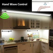 Cheap Led Kitchen Lights Us 21 0 20 Off 2pcs 50cm Led Kitchen Light Under Cabinet Closet Lamp Hand Wave Control Bathroom Bedroom Wardrobe Lights For Home Decoration In Under