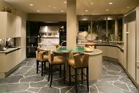 tile and stone flooring in the kitchen