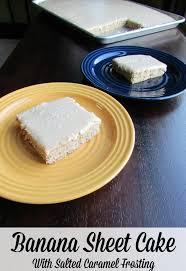 Banana Sheet Cake Title