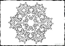 Snowflake Mandala Coloring Pages Free Colouring Winter Page For