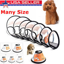 Details About Dog Cat Comfy Cone Collar Pets Bathing Wound Healing Anti Bite Protector Cover