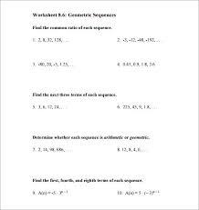 geometric sequence worksheet