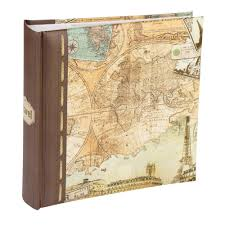 Vintage Photo Albums Holiday Series Vintage Map 6x4 Slip In Memo Photo Album