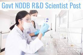 Govt Nddb R D Scientist Post Food Technology Apply Online
