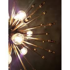 brass sputnik chandelier 1960s vintage designer furniture