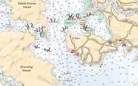 Muskoka Lakes Boating Chart The Nautical Chart For The